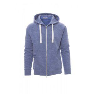 Payper Wear Felpa con cappuccio Urban Blu Royal Melange
