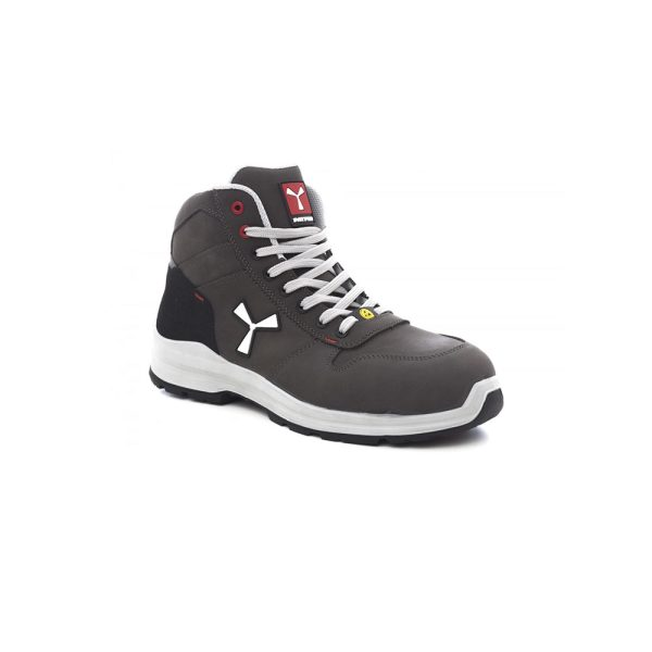 Payper Get Force Mid Grey Smoke Safety Shoe