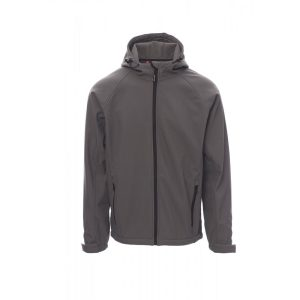 Payper Wear Gale navy blue soft-shell jacket grey