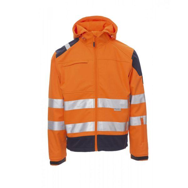 Payper Wear Shine High Visibility Soft-Shell Jacket Orange/Blue