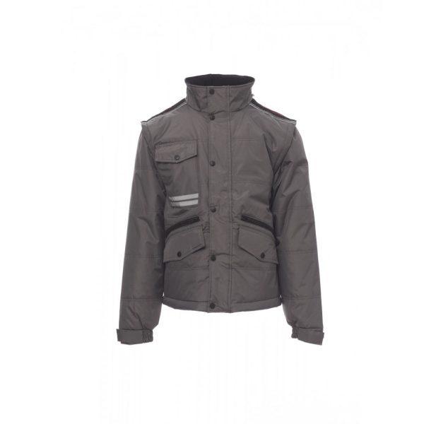 Payper Wear Fighter 2.0 Jacke rauchgrau und schwarz