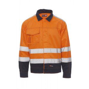 Payper Wear Giubbino Safe Hi Vi alta visibilità Arancione/Blu