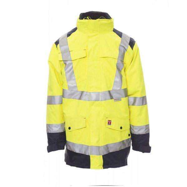 Payper Wear Parka Hisafe alta visibilidad amarillo azul