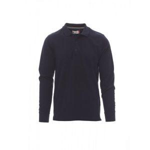Payper Wear Florence long sleeve polo shirt 100% navy blue