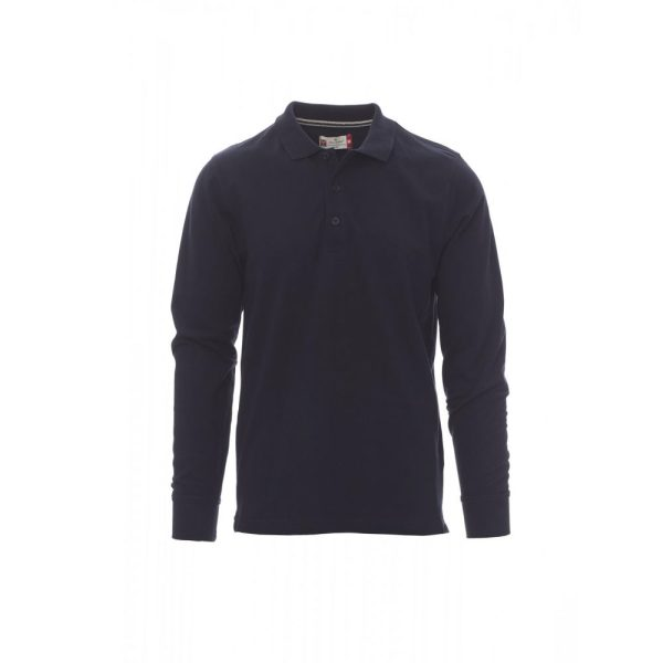 Polo Payper Wear Florence de manga larga 100% azul marino