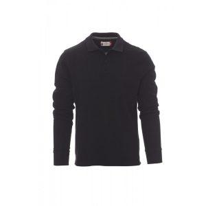 Payper Wear Florence long sleeve polo shirt 100% black cotton