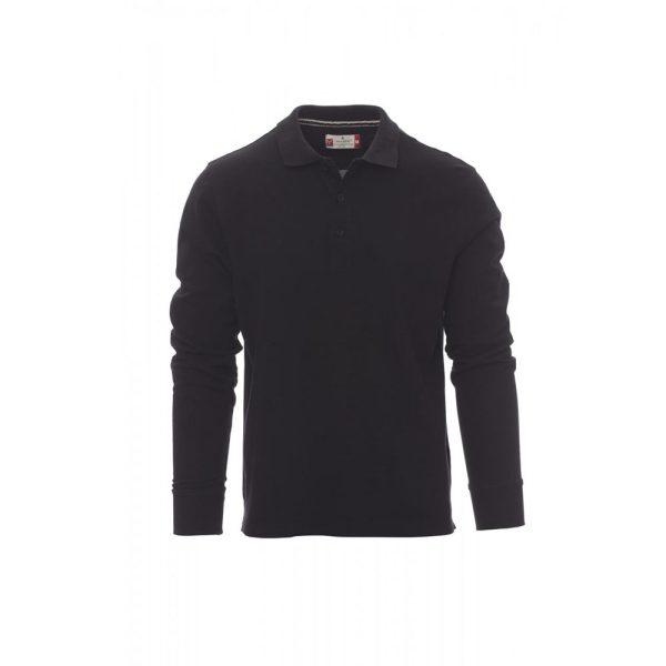 Payper Wear Florence polo à manches longues 100% coton noir