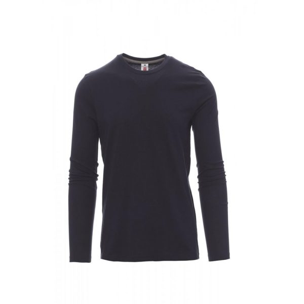 Payper Wear Pineta long-sleeved cotton t-shirt navy blue