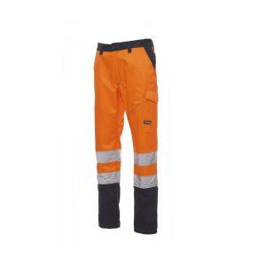 Payper Wear Worker Pantalone Charter alta visibilità Arancione/Blu