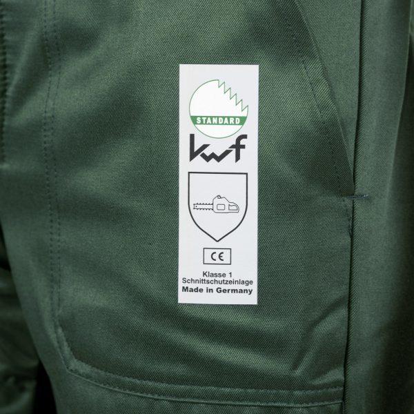 Schnittfeste Latzhose für Holzfällerarbeiten Sichere Klasse 1 49-123 EN 381