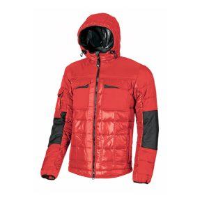 U Power Progress EX064RM Red Magma Chaqueta de trabajo en tejido bi-material