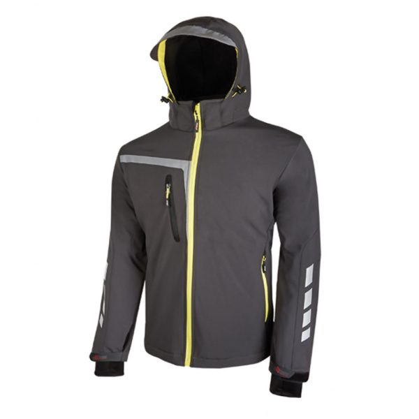 U Power Quick PE114AG Asfalt Grey Soft-Shell Jacke