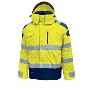 U Power Defender HV Parka Yellow Fluo HL169YF Parka anti-pluie imperméable et respirant