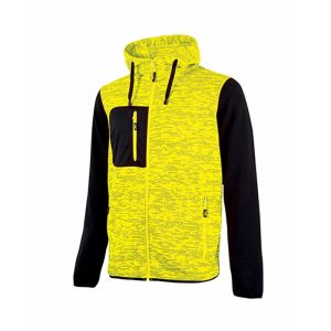 U Power Rainbow Yellow Fluo EY174YF accident prevention sweatshirt