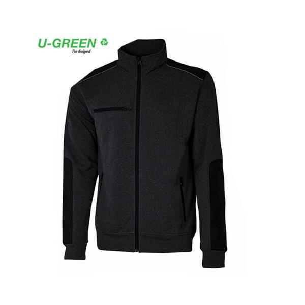 U Power Snug Black Carbon EY129BC Sweatshirt-Jacke mit Reißverschluss
