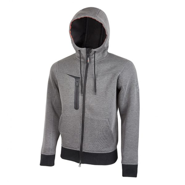 U Power Tasty Grey Meteorite PE119GM Workwear Full-zip fleece