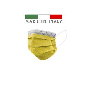 Mascherine Chirurgiche D. Medico Classe 1 EN 14683 Made In Italy Giallo