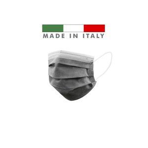 Mascherine Chirurgiche D. Medico Classe 1 EN 14683 Made In Italy Nero