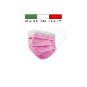 Mascherine Chirurgiche D. Medico Classe 1 EN 14683 Made In Italy Rosa