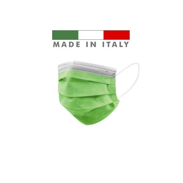 Mascherine Chirurgiche D. Medico Classe 1 EN 14683 Made In Italy Verde