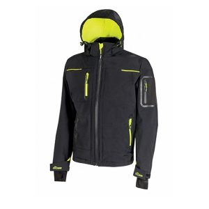 U Power Space Black Carbon FU187BC Accident prevention Softshell Jacket