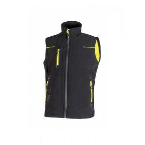 U Power Universe Black Carbon FU188BC Vest in Softshell