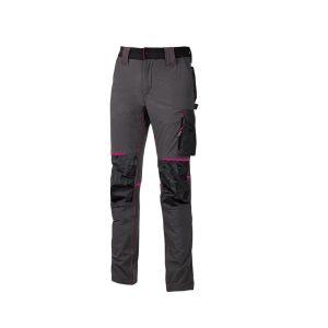 U Power Atom Pantalone Lavoro Donna Atom Lady Grey Fucsia PE145GF