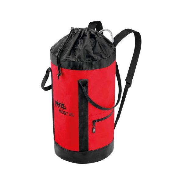 Petzl Bucket 35 litri rossa sacca porta d.p.i. anticaduta S41AR035