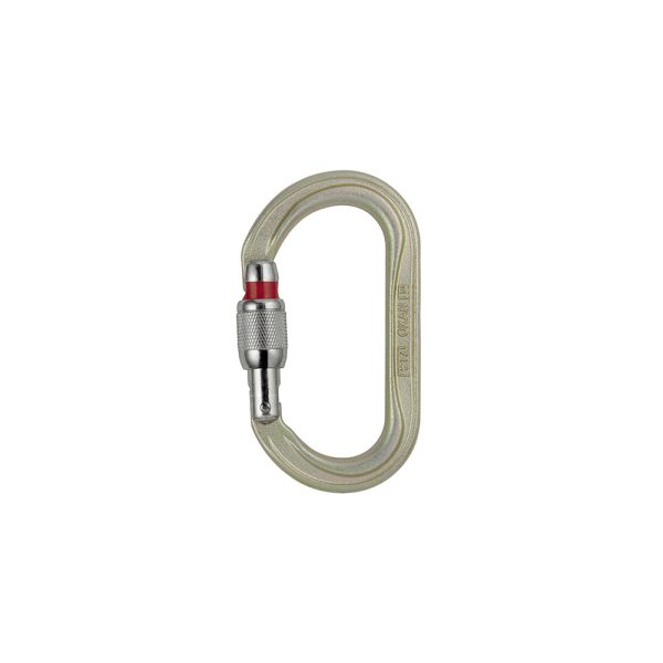 Petzl Oxan Screw-Lock moschettone ovale in acciaio ad alta resistenza