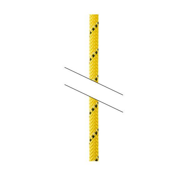 Petzl Parallel 10.5 mm 60 metri giallo corda semistatica per accessi difficili
