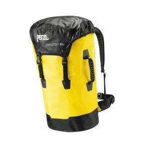 Petzl Transport 45 litri giallo sacca robusta porta d.p.i. anticaduta