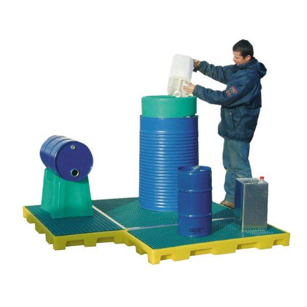 Airbank piattaforma di contenimento modulare in polietilene