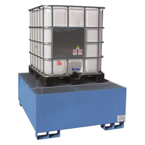 Airbank vasca di raccolta in acciaio per 1 cisternetta da 1000 litri verniciata