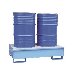 Airbank vasca di raccolta in acciaio per 2 fusti da 200 litri verniciata