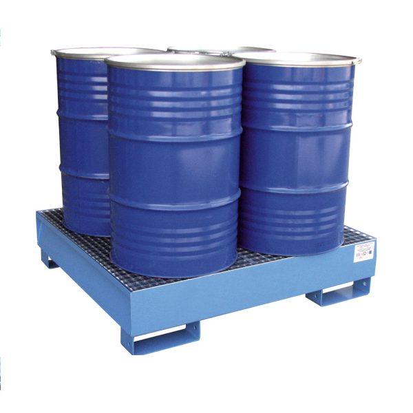 Airbank vasca di raccolta in acciaio per 4 fusti da 200 litri verniciata