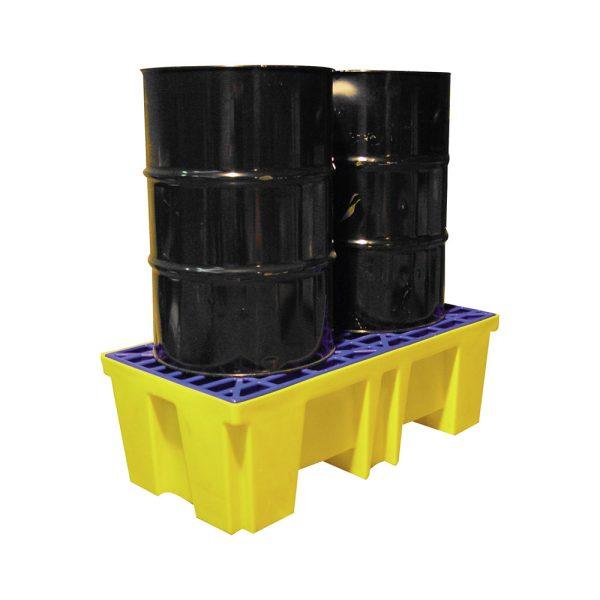 Airbank vasca per stoccaggio 2 fusti di prodotti chimici da 200 litri