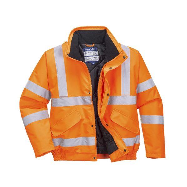 Portwest Bomber RIS RT32ORR arancione giacca invernale alta visibilità