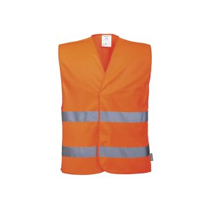 Portwest C474 OR gilet alta visibilità arancione 2 bande RIS-3279-TOM