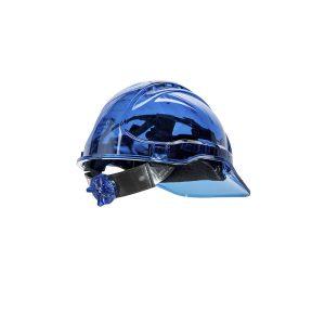 Portwest Peak View ventilato blu PV60BLU elmetto da lavoro trasparente