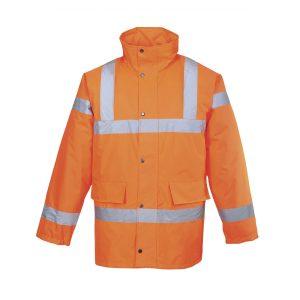 Portwest Traffic RT30ORR arancione giacca invernale alta visibilità