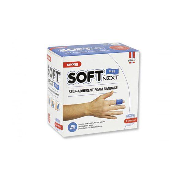 PVS Soft Next cerotto autoadesivo per bendaggio emergenza 6x450cm blu