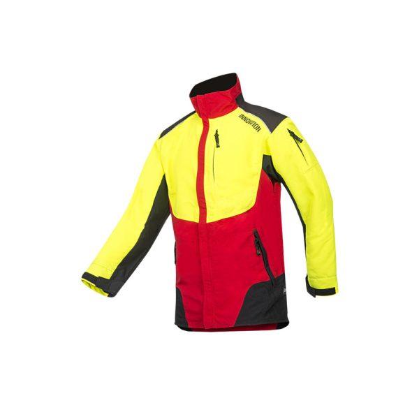 Sip Protection giacca arborista w-air ergonomica e traspirante rosso giallo
