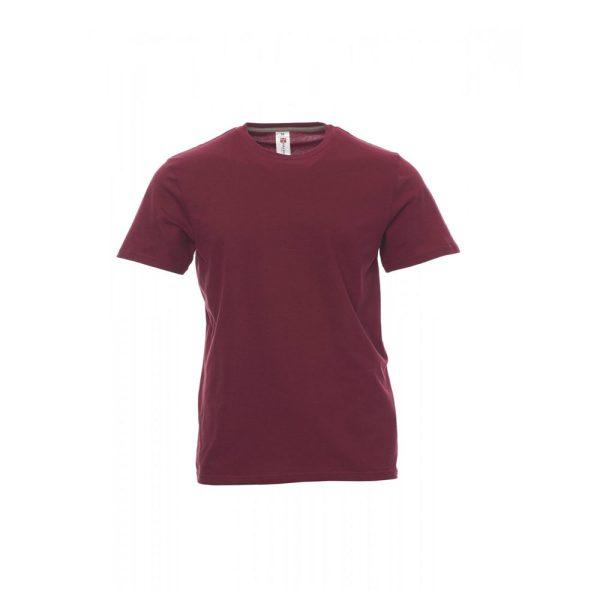 T-Shirt da uomo a girocollo Payper Sunset bordeaux 100% Cotone