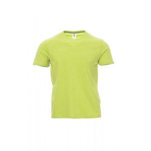 T-Shirt da uomo girocollo Payper Sunset Verde Acido 100% Cotone