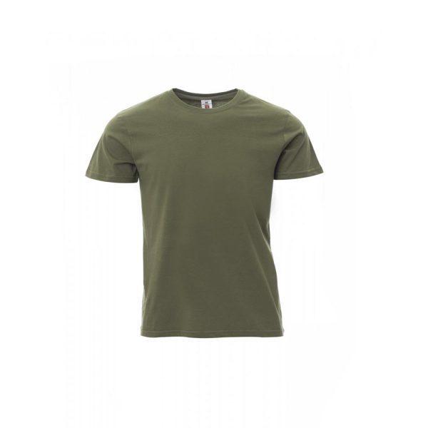 T-Shirt da uomo girocollo Payper Sunset Verde Militare 100% Cotone