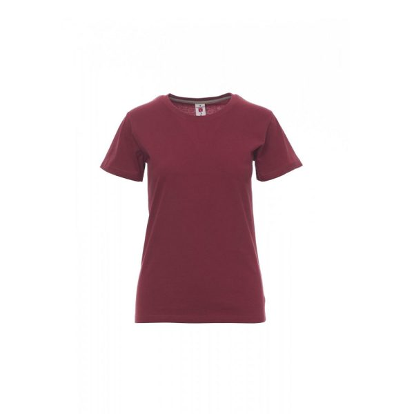 T-shirt donna girocollo Payper Sunset Lady Bordeaux 100% Cotone