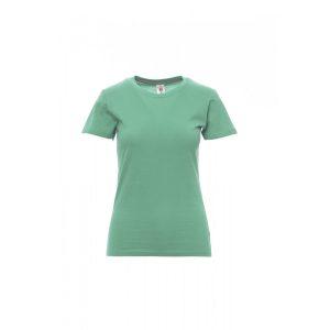 T-shirt donna girocollo Payper Sunset Lady Emerald Green 100% Cotone