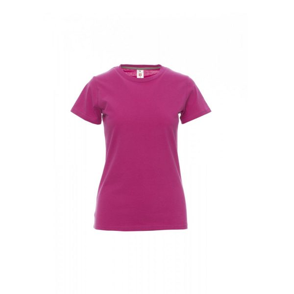 T-shirt donna girocollo Payper Sunset Lady Fuxia 100% Cotone