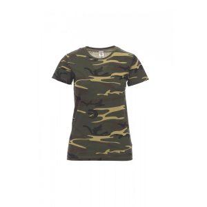 T-shirt donna girocollo Payper Sunset Lady Mimetica 100% Cotone