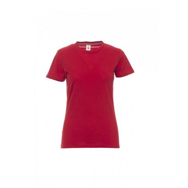 T-shirt donna girocollo Payper Sunset Lady Rossa 100% Cotone